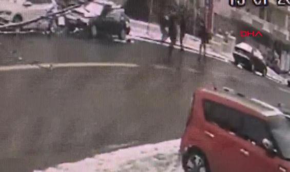 Gazeteci Uğurluoğlu'na saldırı anı kamerada