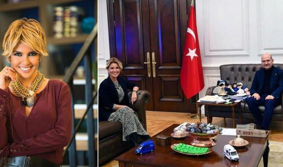 Gülben Ergen'den Süleyman Soylu'ya ziyaret
