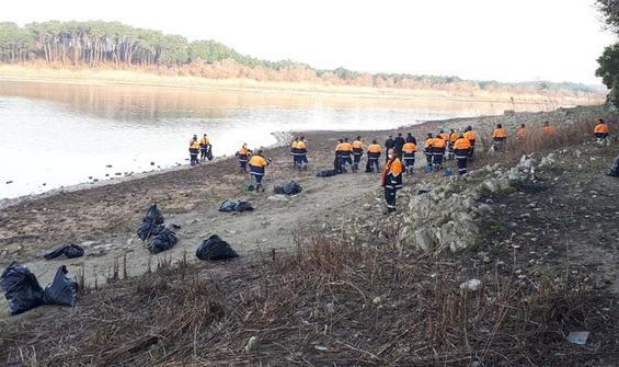 İstanbul barajlarından 40 ton atık çıktı