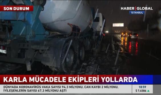Sultangazi'de beton mikseri devrildi