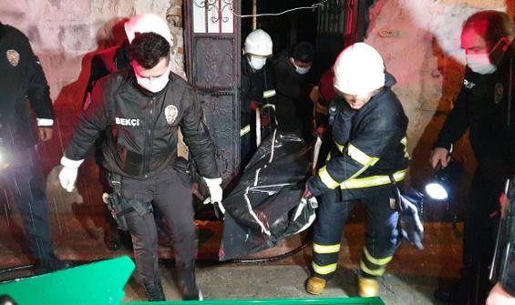 Metruk binadaki yangında, bir erkek cesedi bulundu