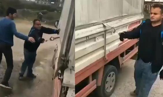 Zihinsel engelli genci kamyona bağlayıp yürüttüler