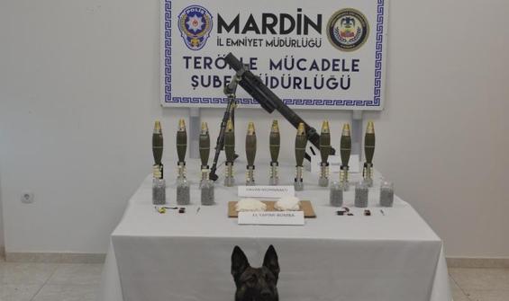 Mardin'de patlayıcı ve havan topları ele geçirildi