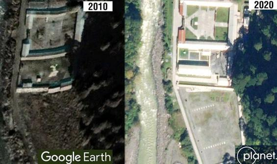 Uydu görüntüleri Çin'in köy inşa ettiğini ortaya koydu