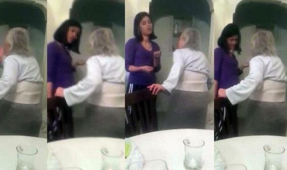 Yaşlı kadına akılalmaz şiddet! Görüntüler kan dondurdu