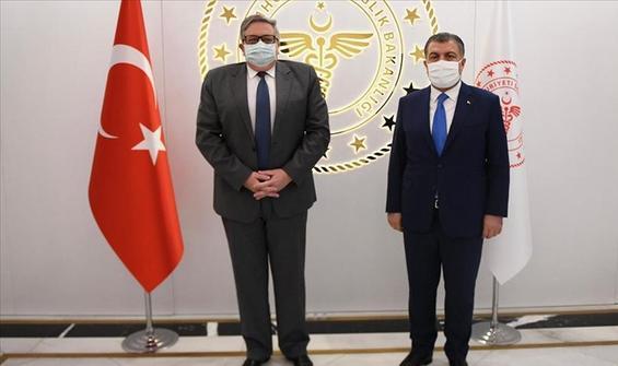 Bakan Koca, Rusya'nın Ankara Büyükelçisi Yerhov ile görüştü