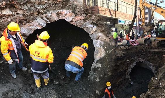 Trabzon'da altyapı çalışmasında ortaya çıktı, kazı durdu