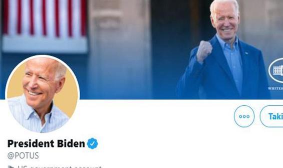 """Biden """"POTUS"""" Twitter hesabından ilk mesajını paylaştı"""