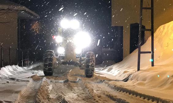 Kar nedeniyle 87 köyle ulaşım sağlanamıyor