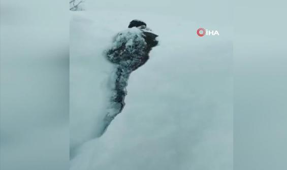 Kar boylarını geçti, köylüler eve hapsoldu