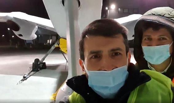 Akıncı PT-3 ile 'yuvadan uçmadan önce son selfiesini' çekti