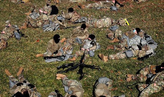 Biden'ı korurken otoparkta yatırılan askerleri virüs vurdu