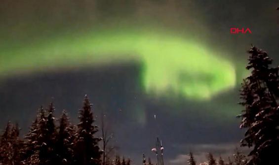 Kuzey Işıkları'nın büyüleyici dansı böyle görüntülendi
