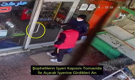 Tornavidalı hırsızlık güvenlik kamerasında