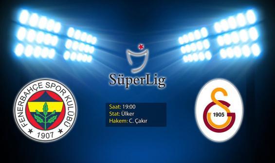 Dev derbi: Fenerbahçe - Galatasaray