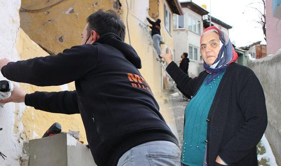 Yaşlı kadın kredi çekip kamera taktırdı