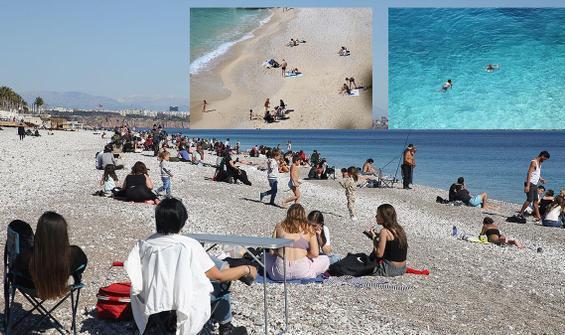 Antalya'da şubat ayında deniz keyfi