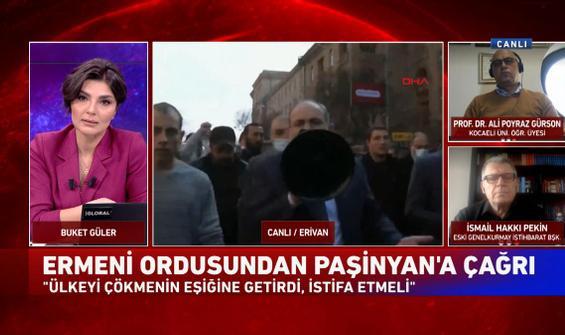 Paşinyan, Erivan sokaklarında megafonla taraftarlarından destek istedi
