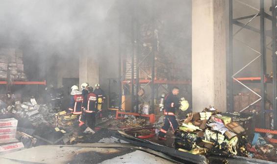 Ankara bir depoda yangın