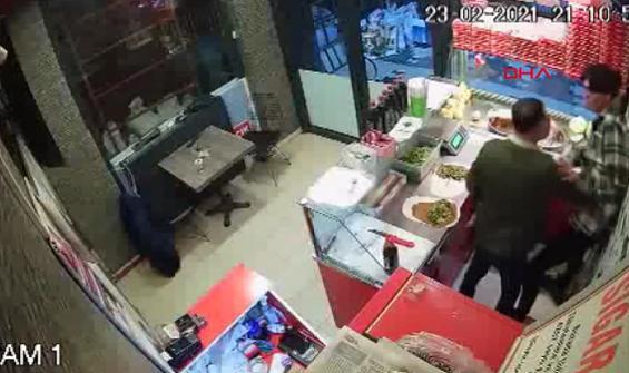 Acılı çiğ köfte saldırısı kamerada