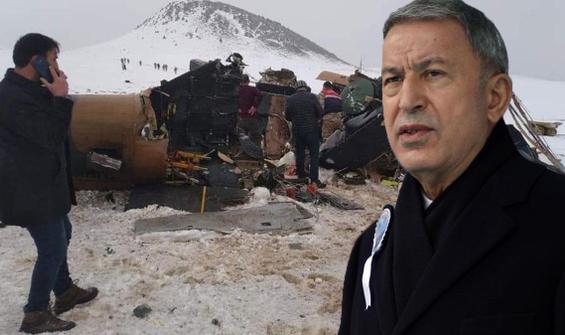 Helikopter kazası neden oldu? Bakan Akar'dan ilk açıklama