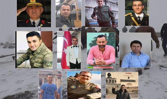 Türkiye yasta! 11 şehidin kimlikleri belli odu