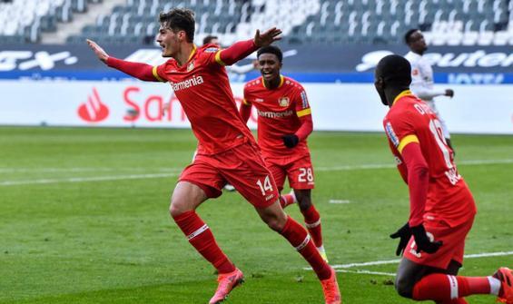 Leverkusen, Mönchengladbach'ı tek golle geçti