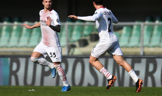 Milan, Hellas Verona'yı deplasmanda 2 golle geçti