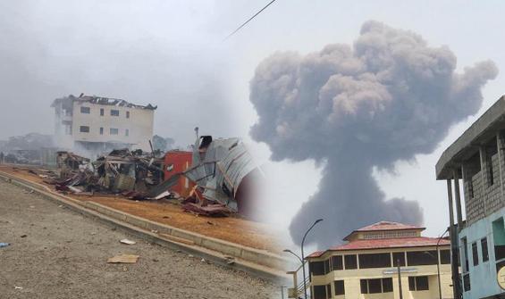 Ekvator Ginesi'nde 4 büyük patlama