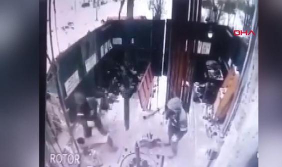 İnşaatta korkunç kaza saniye saniye kamerada