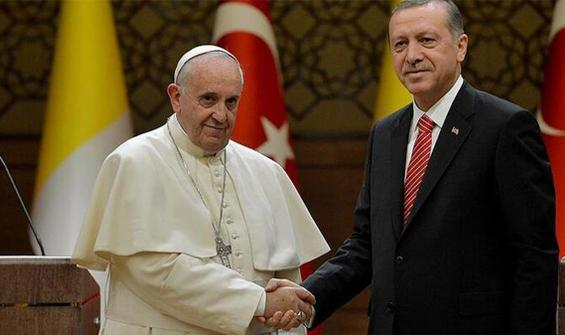 Papa'dan Cumhurbaşkanı Erdoğan'a telgraf!