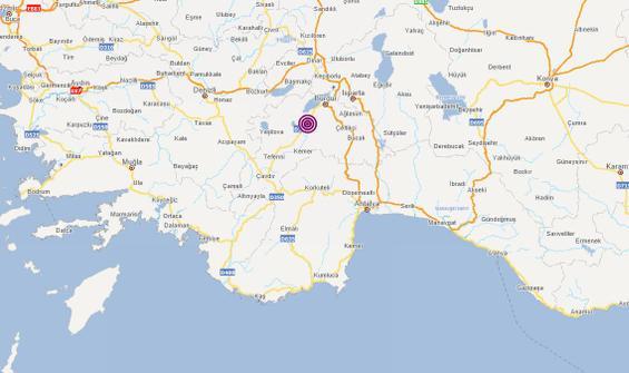 Burdur'da 3.7 büyüklüğünde deprem