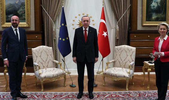 Cumhurbaşkanı Erdoğan'la görüşen AB heyetinden ilk açıklama