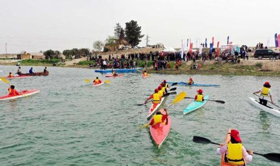 Tel Abyad'da kano festivali heyecanı