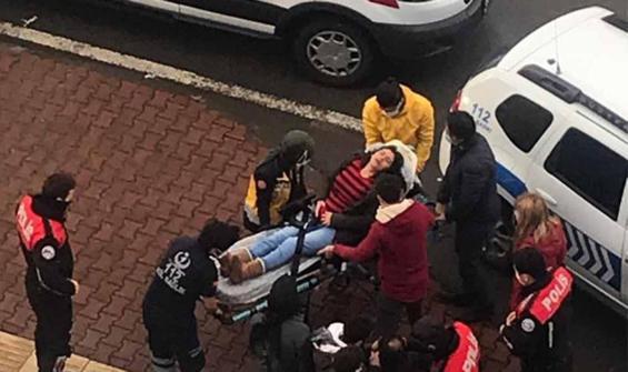 Baltayla önce otomobile ardından hamile kadına saldırdı!