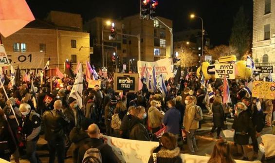 Kudüs'te Netanyahu karşıtı protestolar yeniden başladı