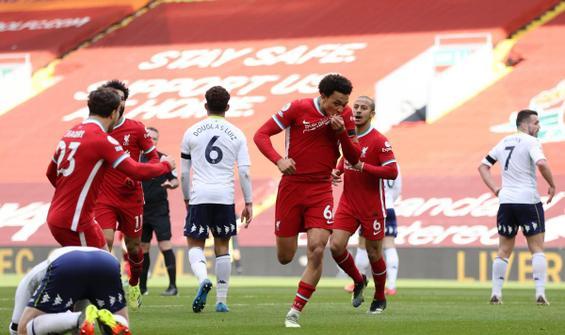 Liverpool, Villa'yı son dakika golüyle geçti
