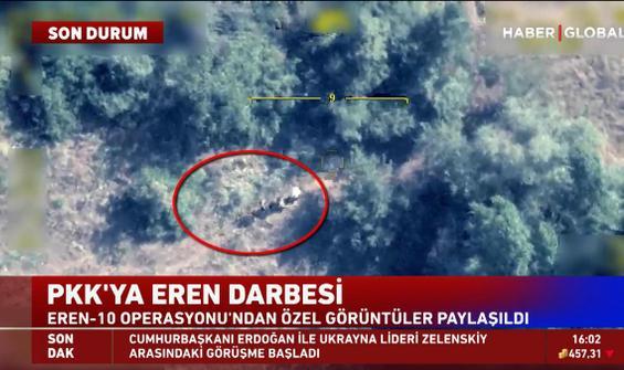 PKK'ya Eren darbesi! Operasyondan özel görüntüler paylaşıldı
