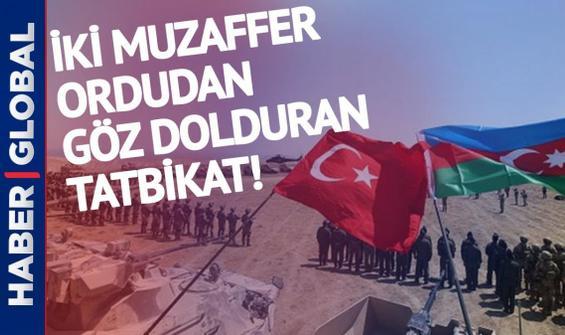 Türkiye ile Azerbaycan ordularından göz dolduran ortak tatbikat!