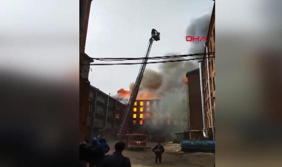 Rusya'da yangın faciası! 40 kişi tahliye edildi