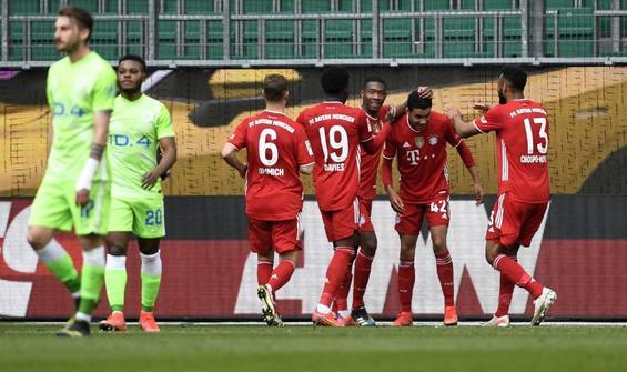 Bayern Münih, Wolfsburg engelini 3 golle aştı