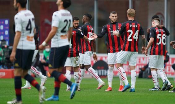 Milan, Genoa engelini 2 golle aştı