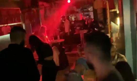 Gece kulübüne çevrilen lokantaya polis baskını!