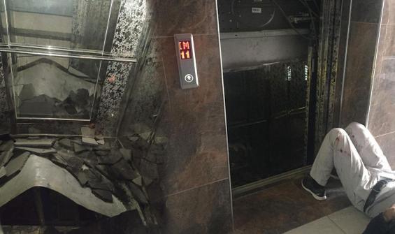 Asansörde dehşet... Halat koptu, 11. kattan yere çakıldı!