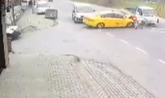 Hatalı sollama zincirleme kazaya neden oldu