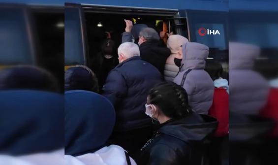 Toplu taşımada akıl almaz kalabalık!