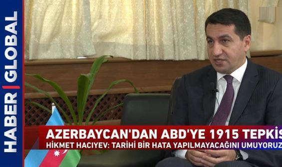 Azerbaycan'dan ABD'ye 1915 tepkisi: Tarihi bir hata yapılmayacağını umuyoruz
