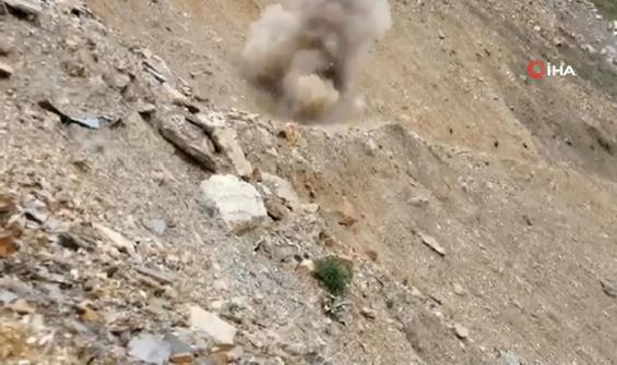 Ele geçirilen el bombaları böyle imha edildi