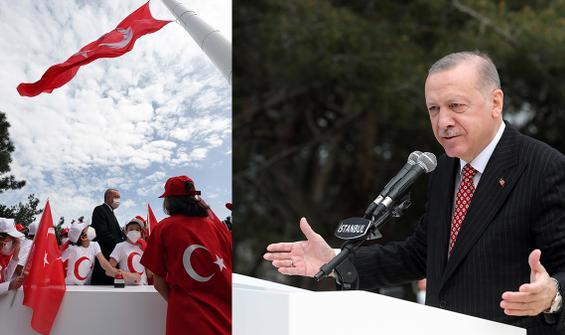 Çamlıca Tepesi'ne dev Türk Bayrağı