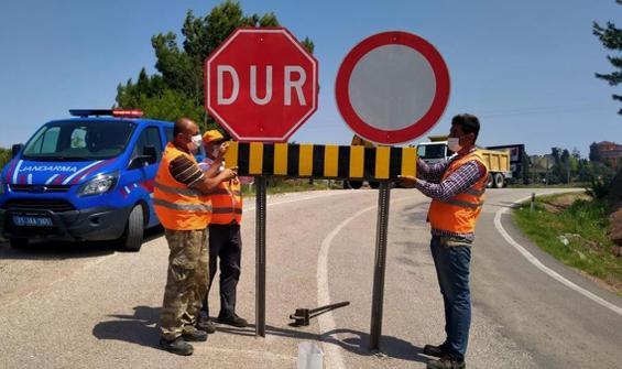 İki il arasındaki yollar kapatıldı